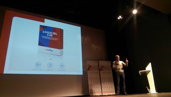 Benjamin Néel, CEO de LabOxy, au concours Pitch'up d'Openîmes