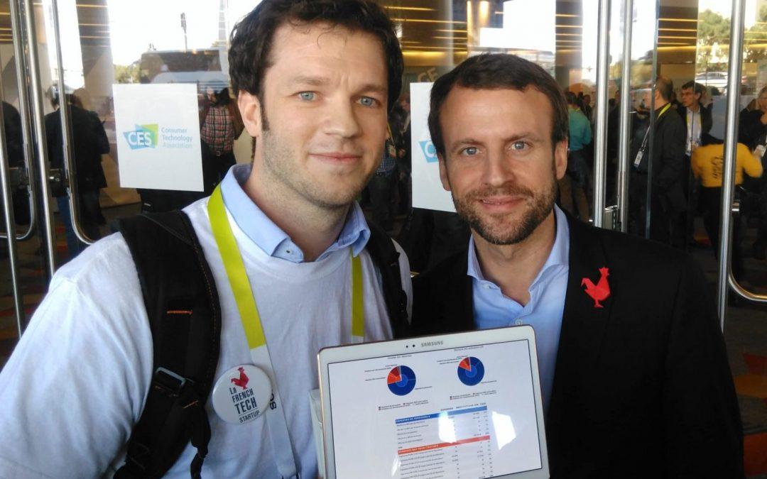 Emmanuel Macron découvre les outils LabOxy
