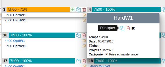 Nouveau calendrier - Détails d'une tâche