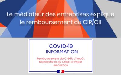 Le médiateur des entreprises publie une fiche pratique sur le remboursement du CIR / CII
